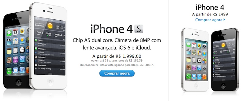 Iphone 4s Brazil 1999