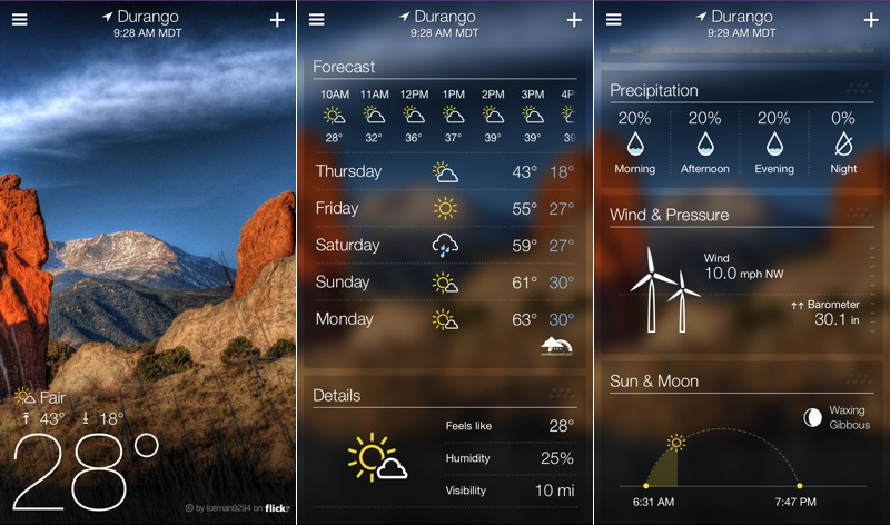 best weather app for iphone yahoo launches standalone iphone weather app brings 16714