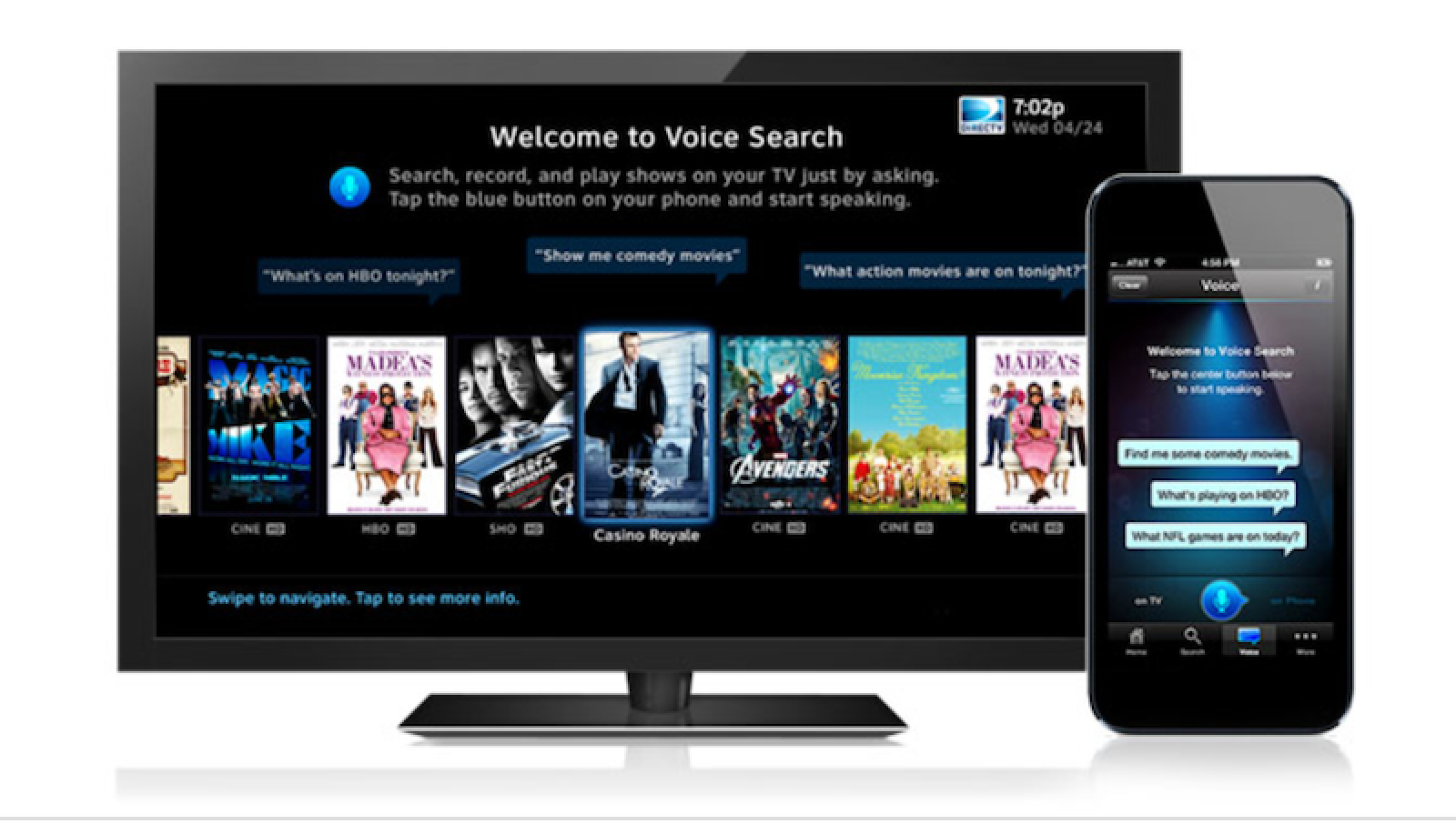directv updates iphone app with voice commands mac rumors. Black Bedroom Furniture Sets. Home Design Ideas