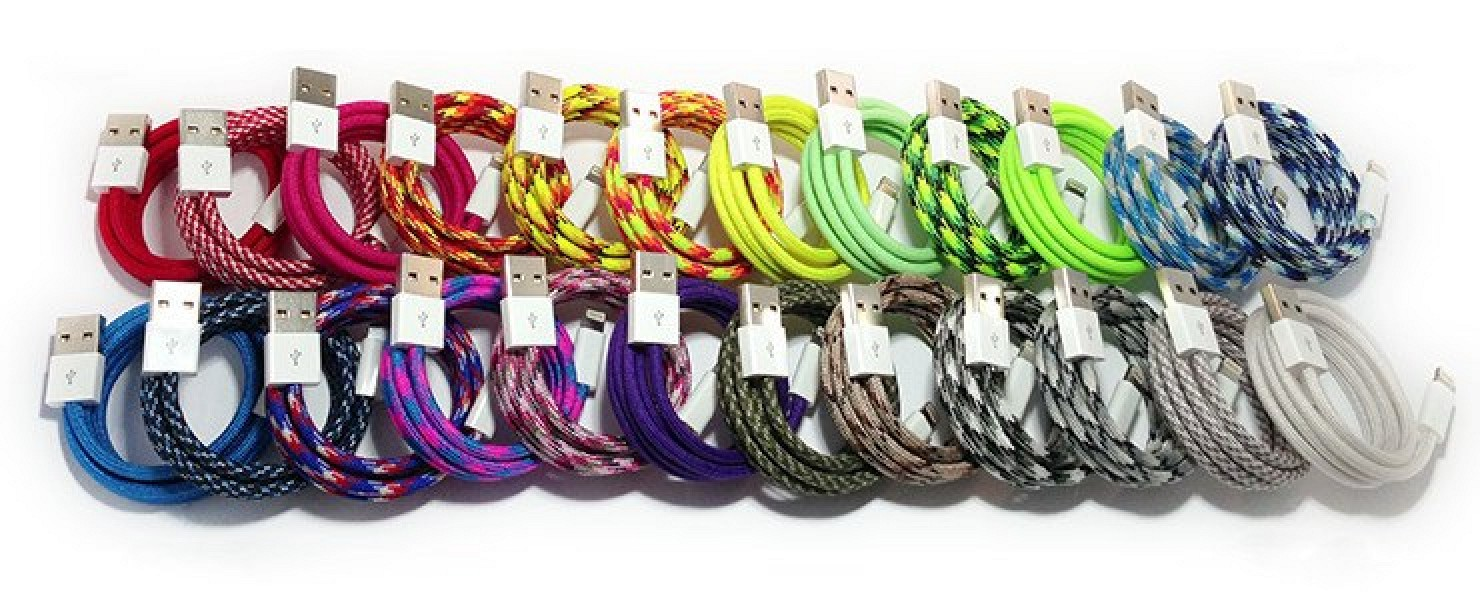 Paracable Offering Colorful Paracord Wrapped Lightning To