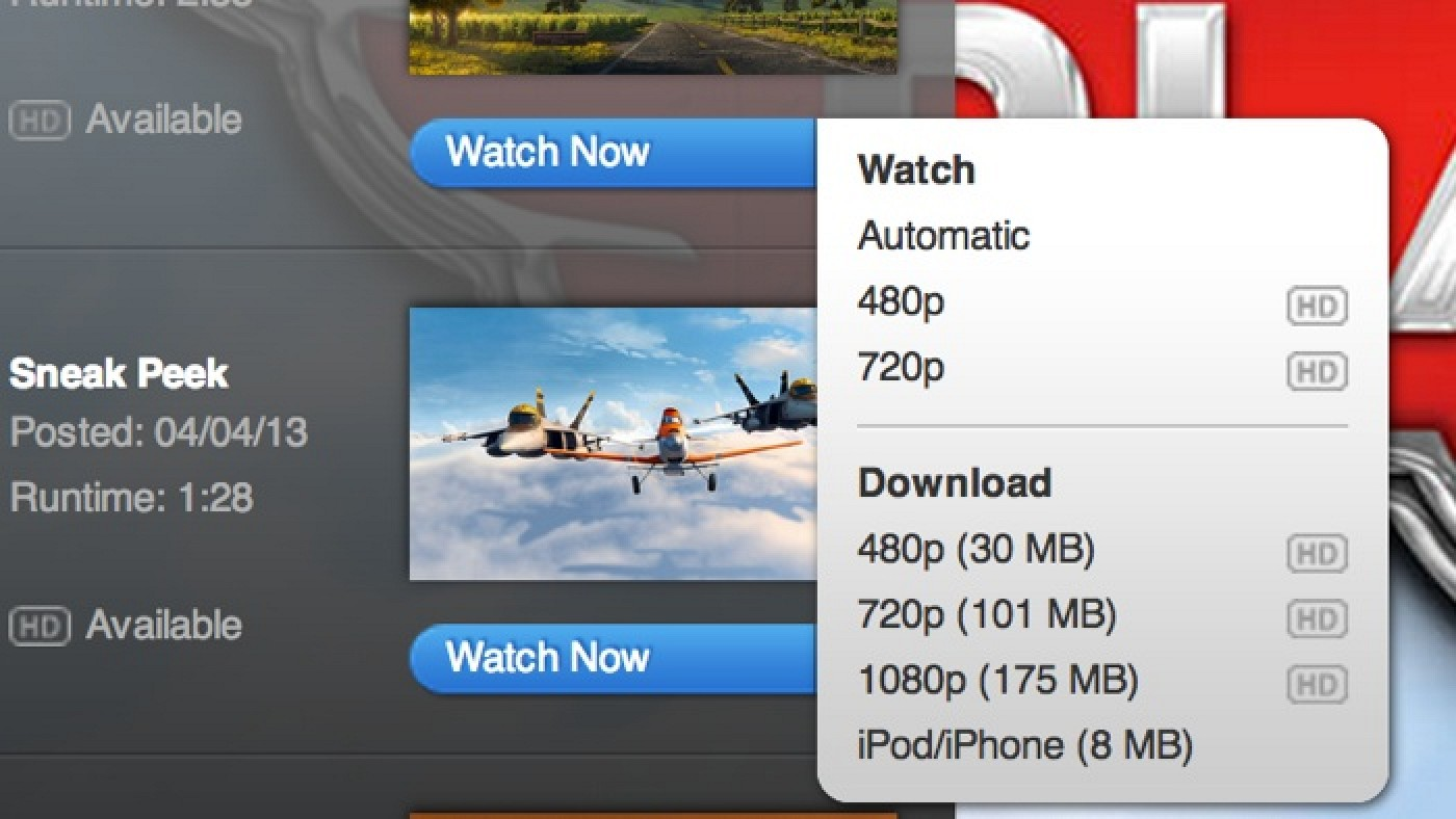 Apple Removes Download Options From Quicktime Trailers
