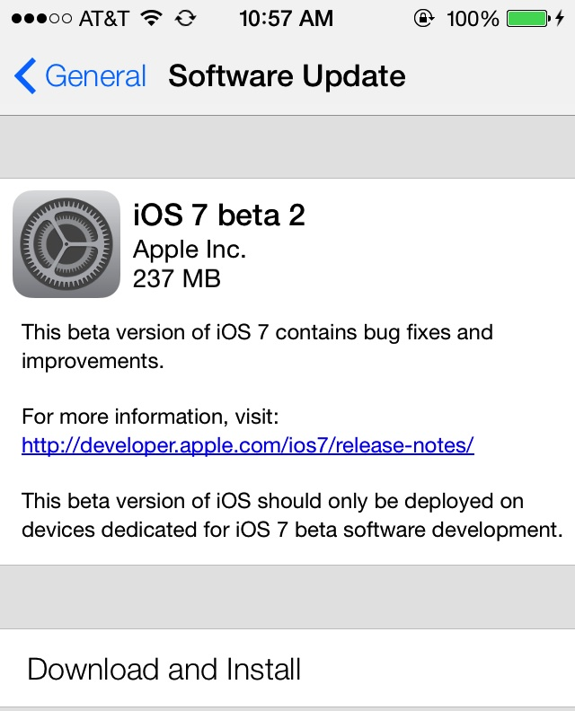 ios 7 beta 2 download ipad 4