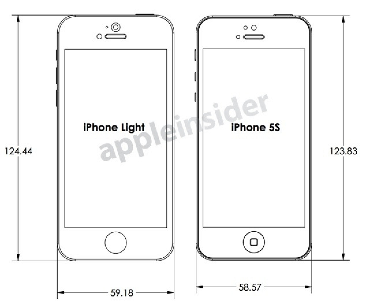 iphone 5s screen size inches design drawings reveal makers expectations for 6326