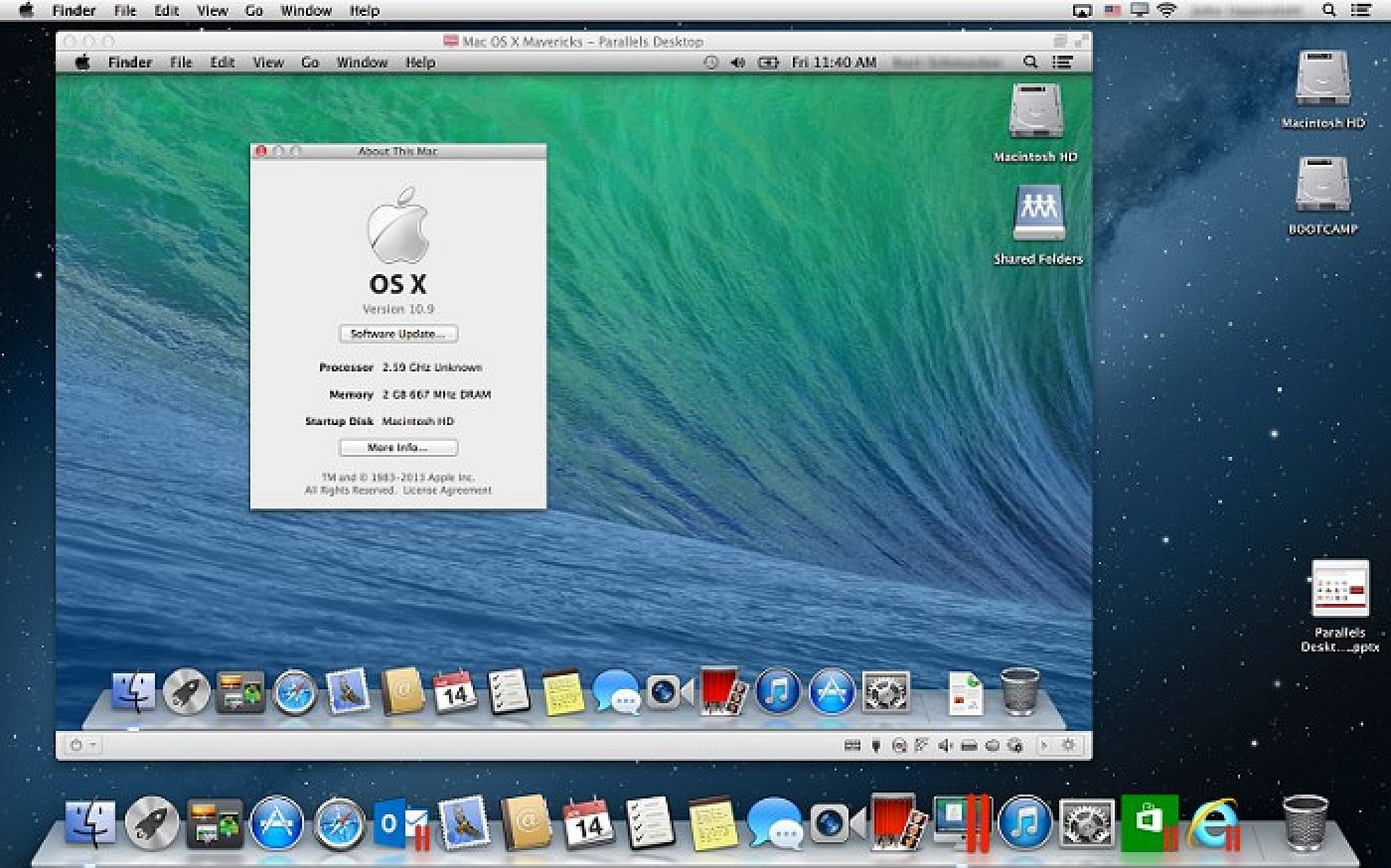 mac os x mavericks download for virtualbox