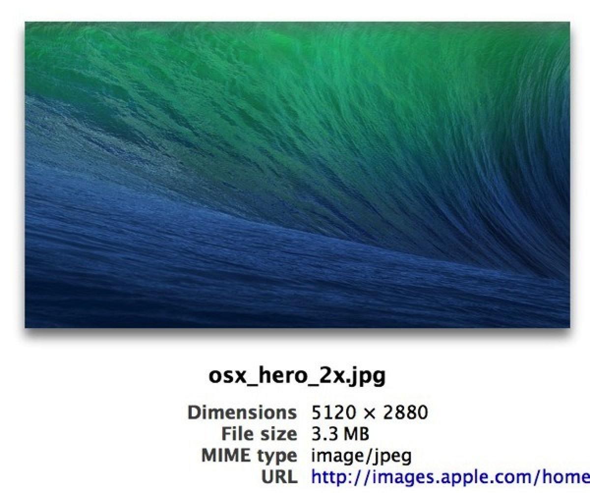 "apple posts 27"" retina imac-sized os x mavericks background - mac rumors"