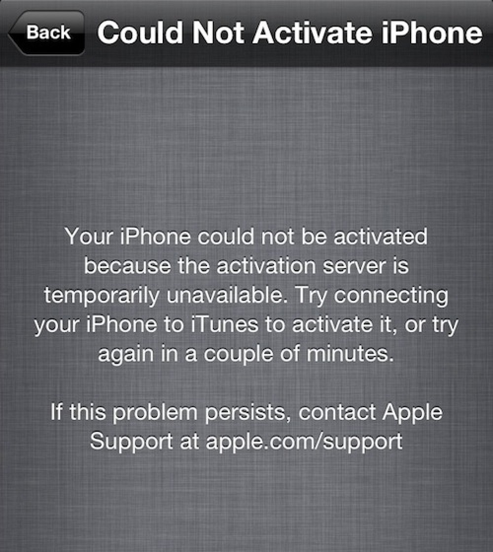 activation error iphone 4 apple s iphone activation servers again experiencing 13354