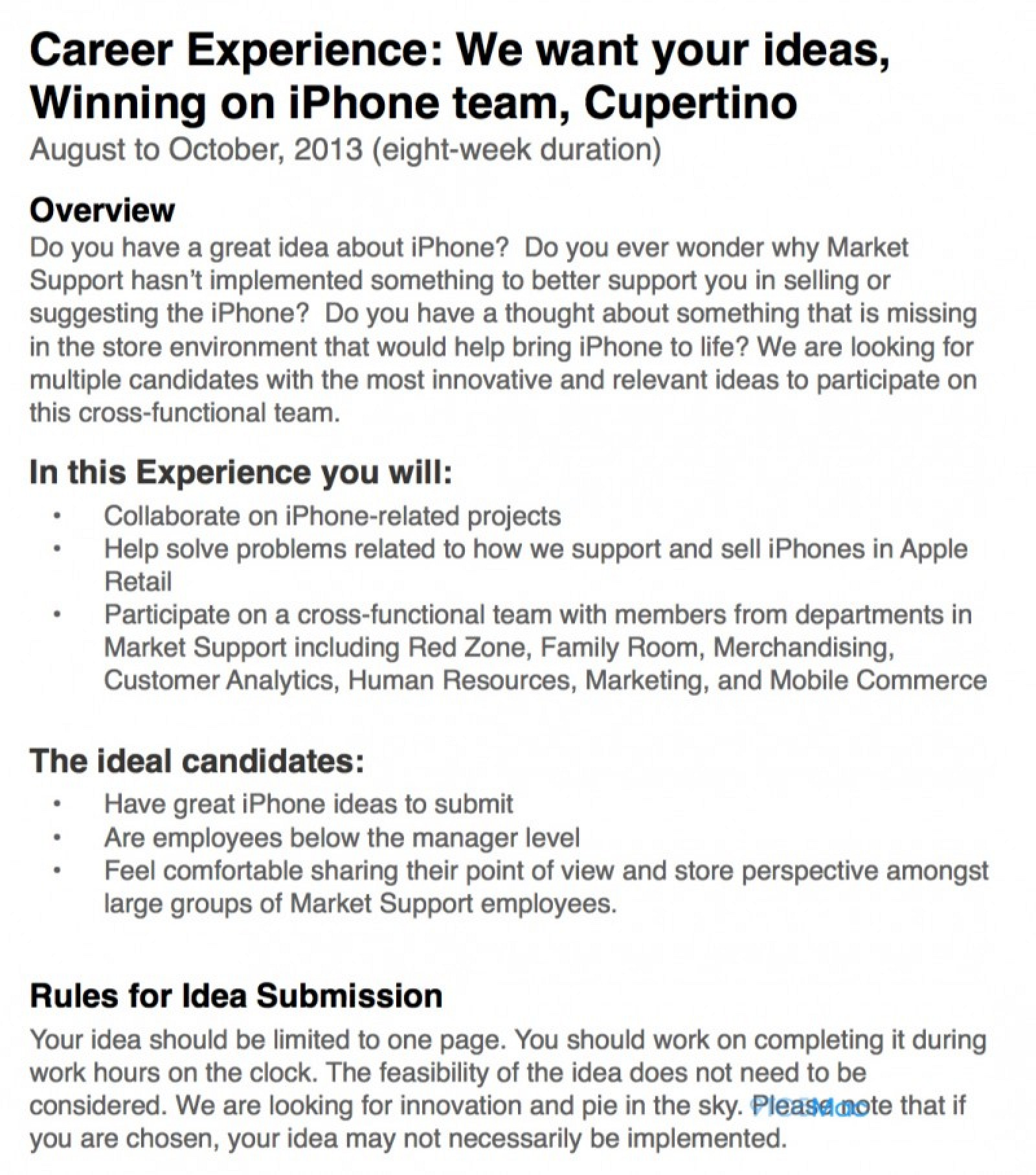 apple asks retail employees for iphone sales advice