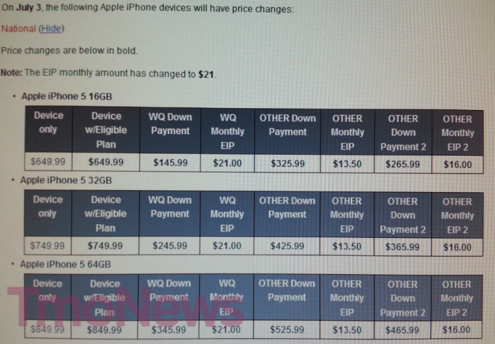 T Mobile Drops IPhone Down Payment Price By 4 Increases Monthly 1