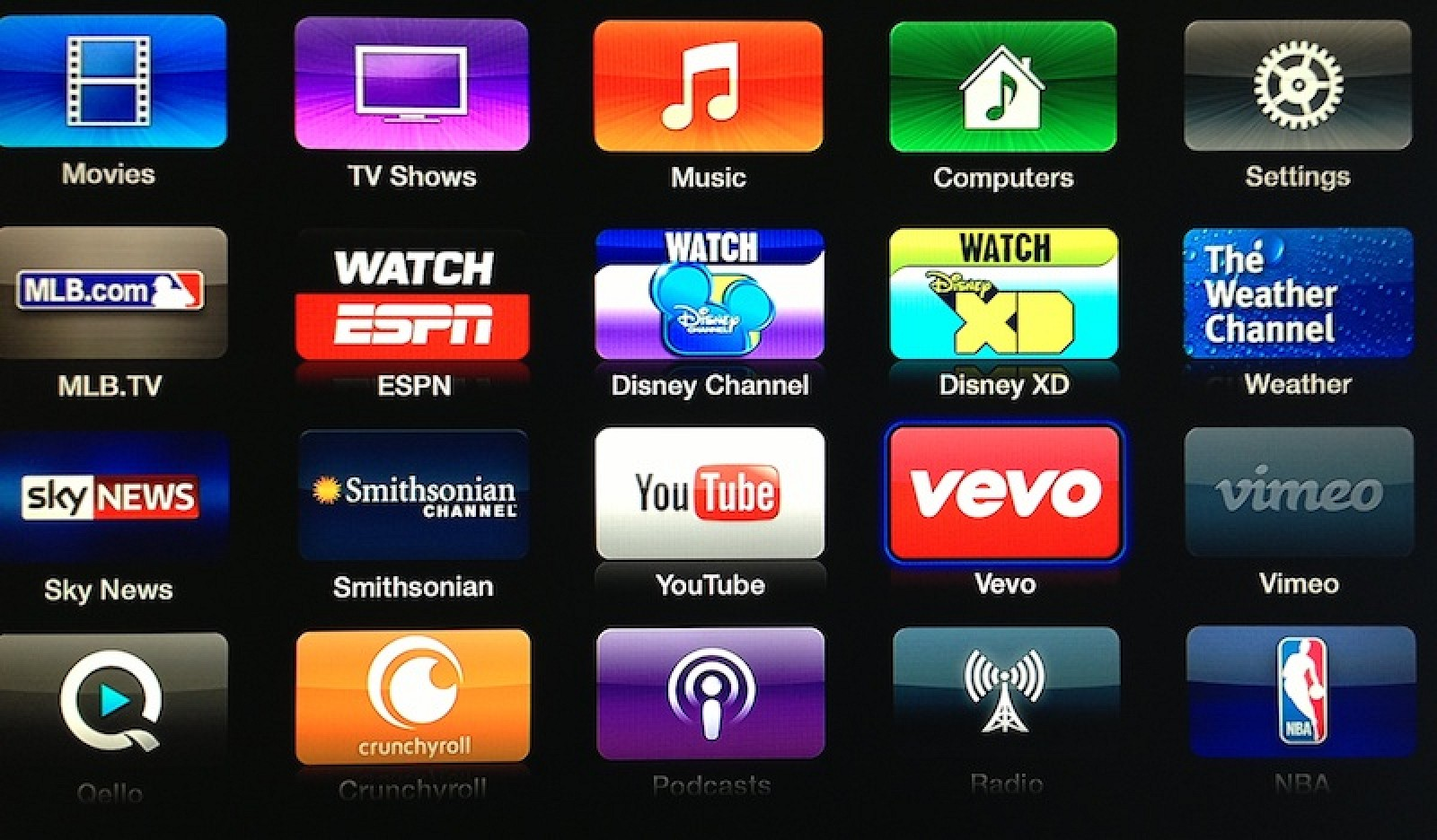 Apple TV Adds Apps for Vevo, Weather Channel, Disney, and ...
