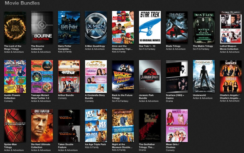 apple holds sale on movie collections in us itunes store