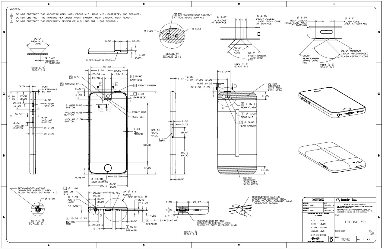 Apple updates guidelines for case makers with details on iphone 5s iphone5cdimensionaldrawing malvernweather Gallery