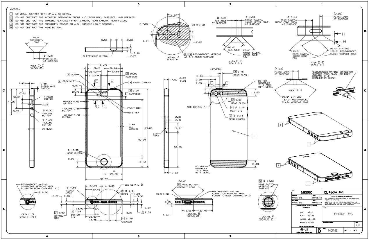 apple updates guidelines for case makers with details on iphone 5s rh macrumors com iPhone 4S Component Diagram iPhone 4S Inside Diagram
