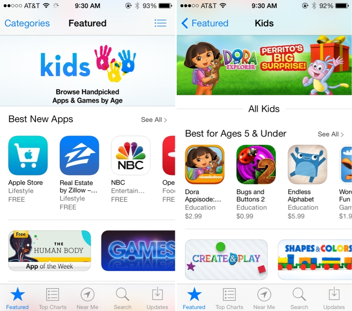 Apple Rolls Out New 'Kids' Category on App Store - MacRumors
