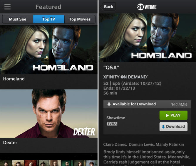 Comcast Launches 'Xfinity TV Go' for iOS Devices with Live