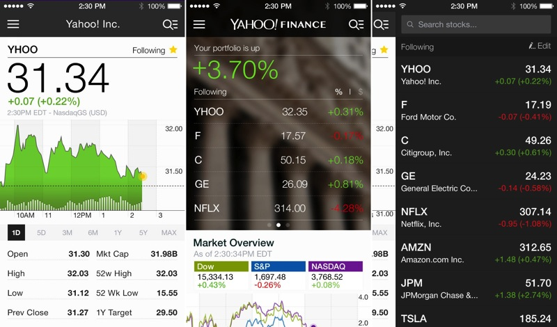 yahoo app for ipad 3