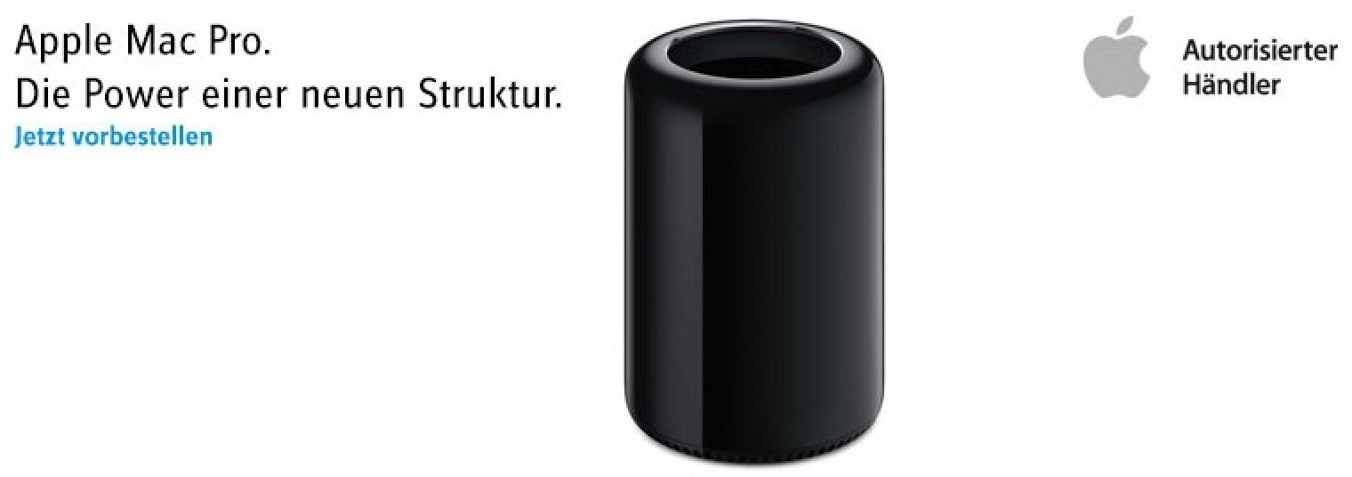 german retailer begins taking mac pro pre orders claims. Black Bedroom Furniture Sets. Home Design Ideas