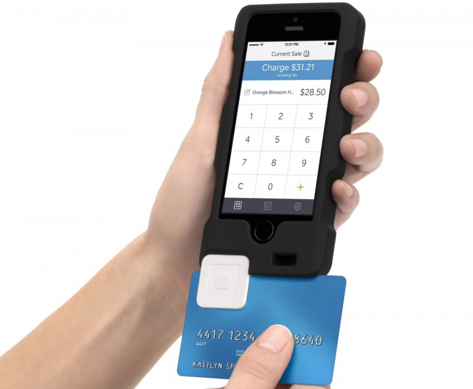 credit card reader for iphone ces 2014 square and griffin announce merchant 3543