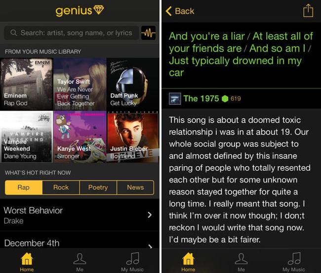 Rap Genius Launches 'Genius' iOS App for Song Lyric