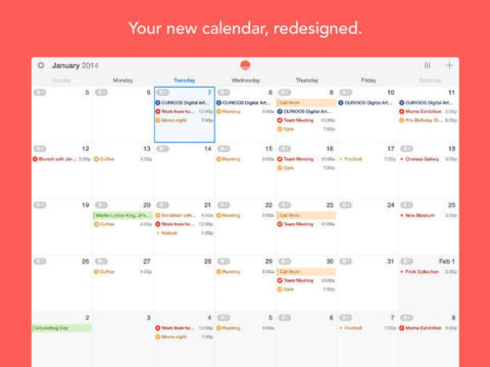 Calendar Wallpaper Automatic Update : Sunrise calendar updated with full ipad support