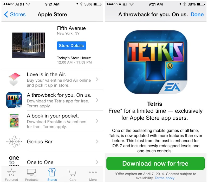 official tetris app now free in apple store app promotion mac rumors