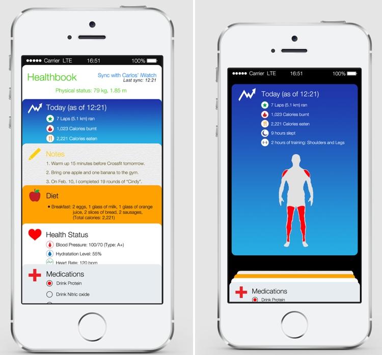 iOS 8 'Healthbook' App Depicted in New Mockups - MacRumors
