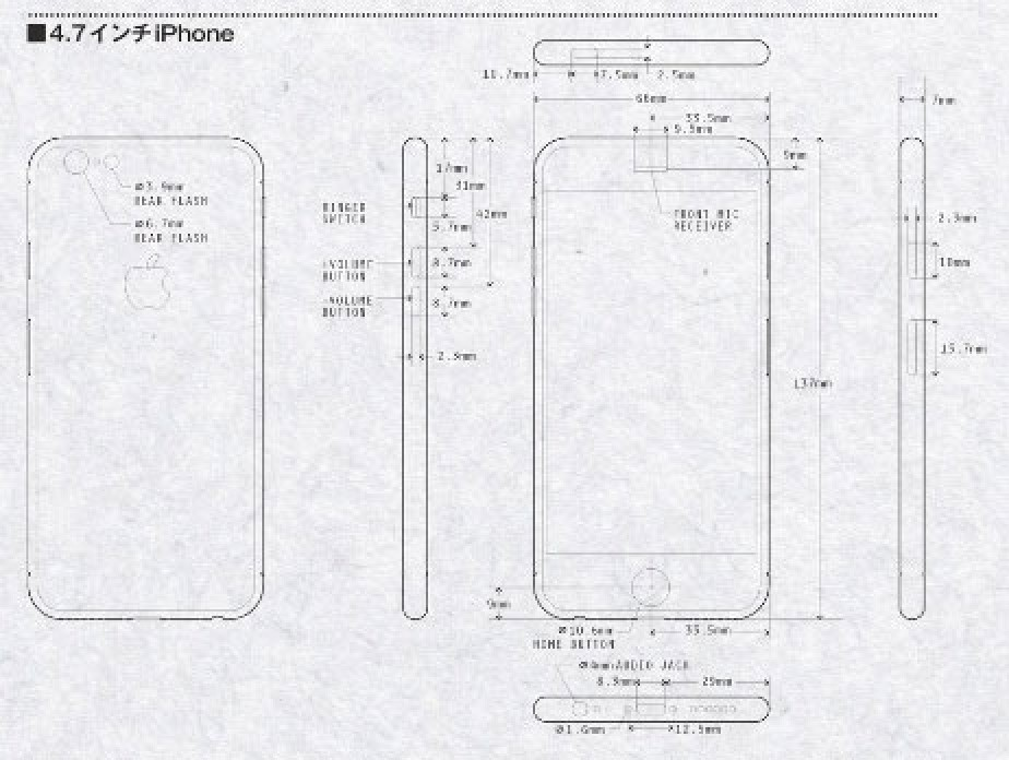 iPhone 6 Renderings Based on Leaked Schematics Highlight
