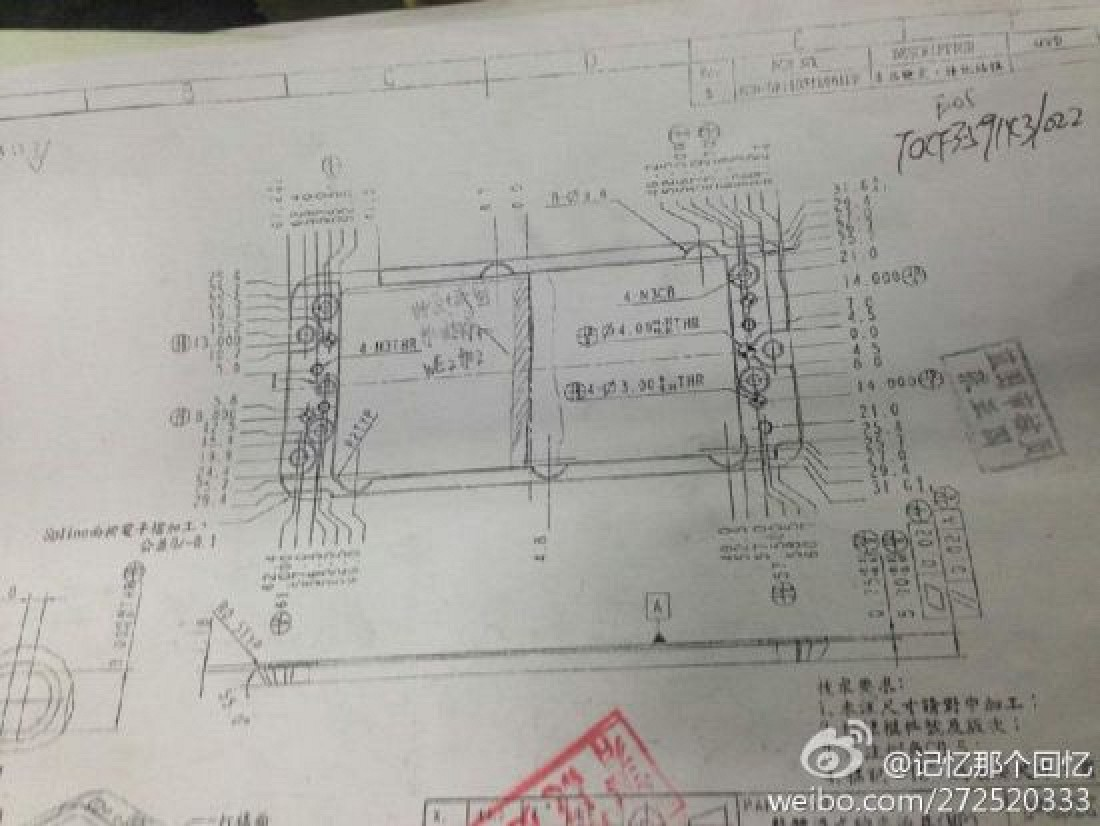 Alleged Images Of Iphone 6 Chassis And Manufacturing Molds Surface Cable Schematic Macrumors
