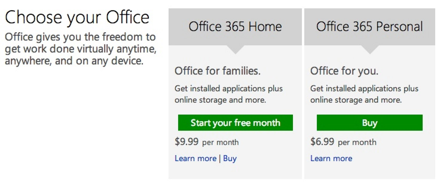 Microsoft Launches \'Office 365 Personal\' Plan for One Mac and One ...