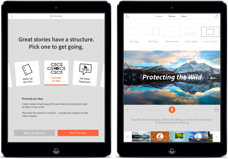 Adobe Debuts 'Adobe Voice' Video Storytelling App for iPad
