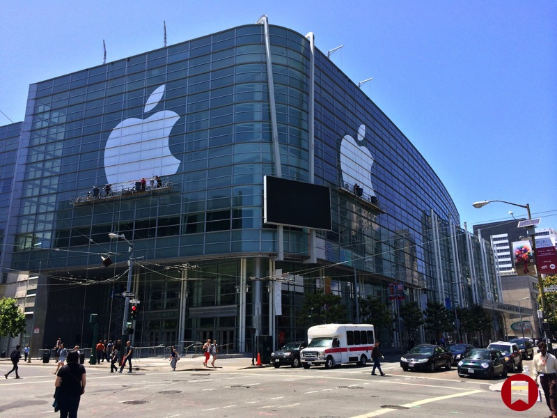Logo Apple sul Moscone