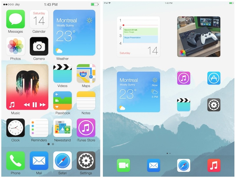 Home screen pictures ipad to iphone