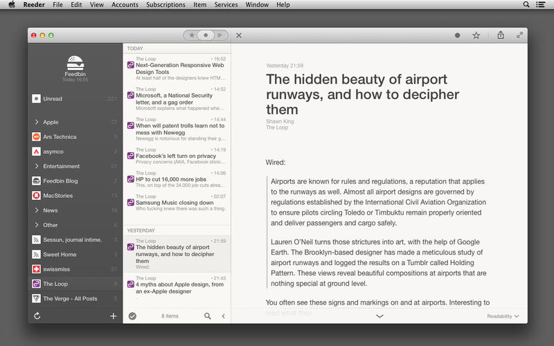 RSS Feed Viewer 'Reeder 2' Now Available for Mac with