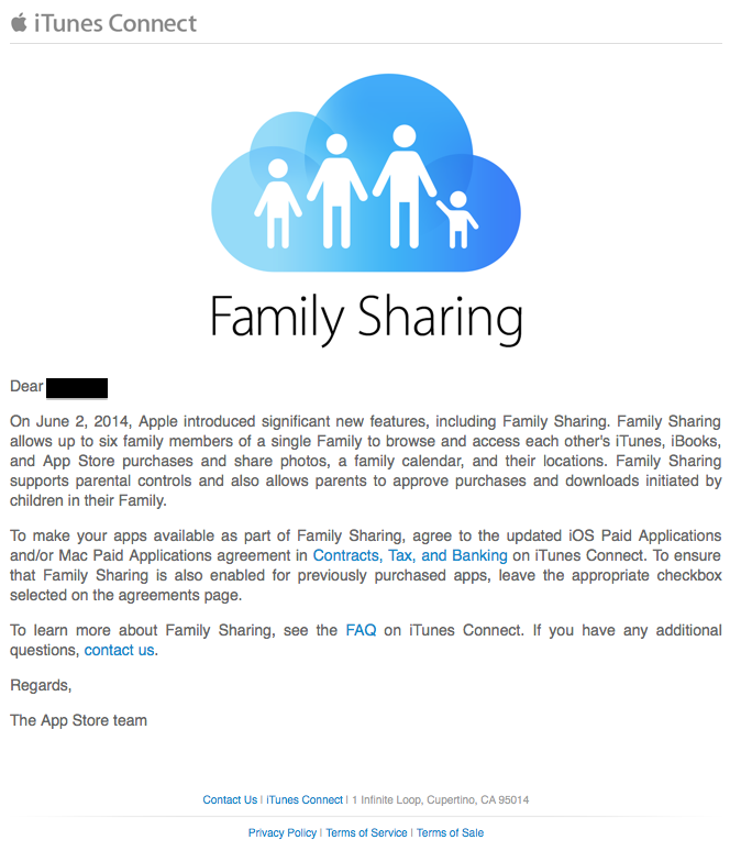Apple Begins Asking Developers To Turn On Family Sharing For Ios 8