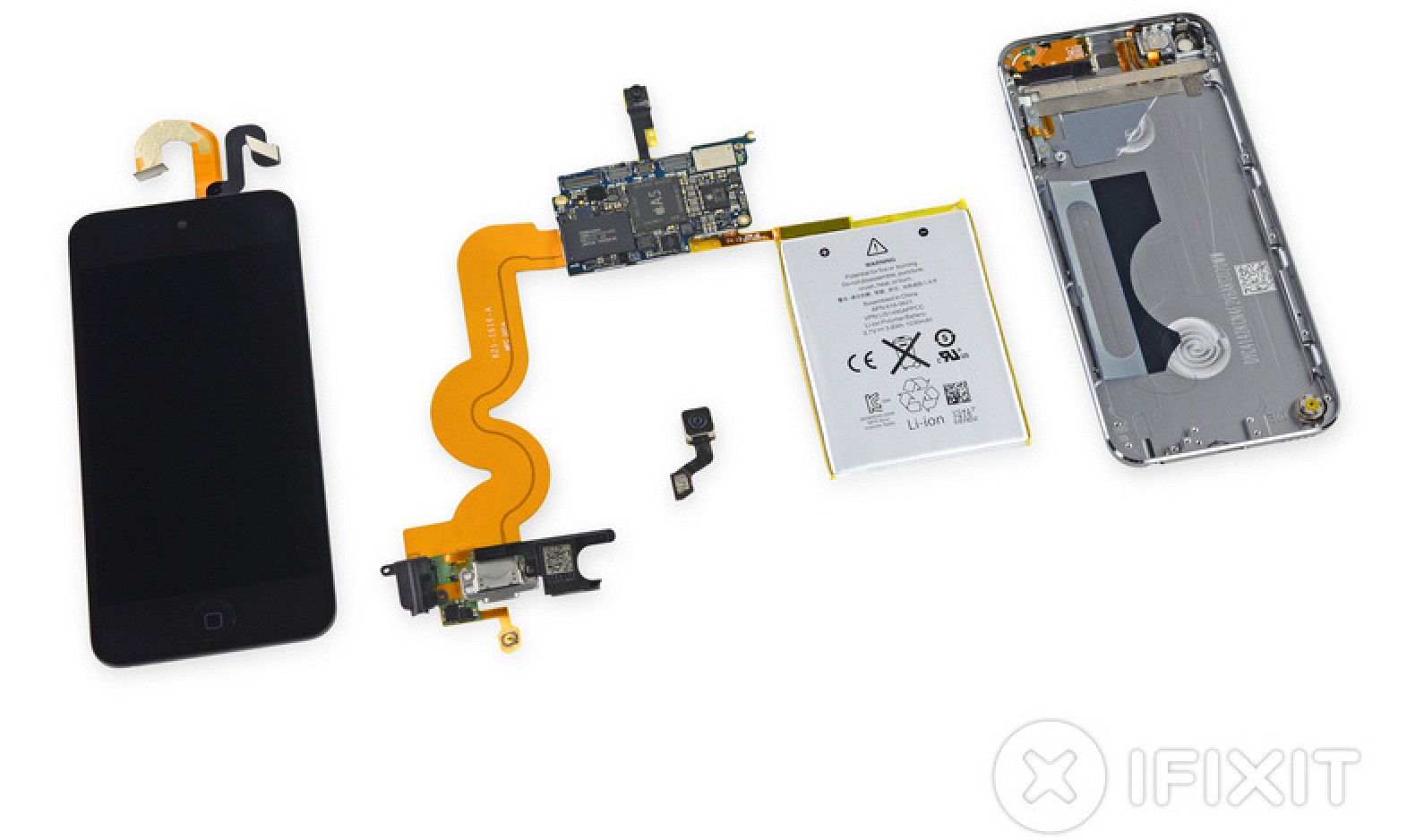 Teardown Of New 16 Gb Ipod Touch Reveals Same Internals And Layout Iphone 5 Logic Board Diagram As Larger Capacity Models Macrumors