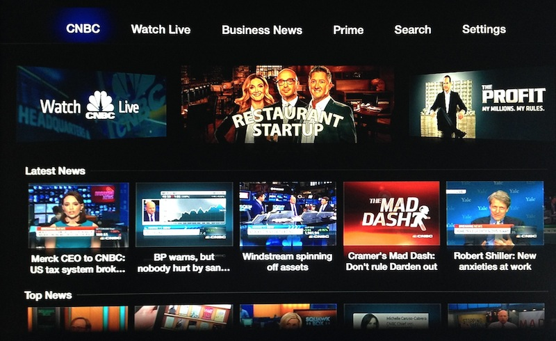 Apple TV Updated with CNBC and FOX NOW Channels - MacRumors