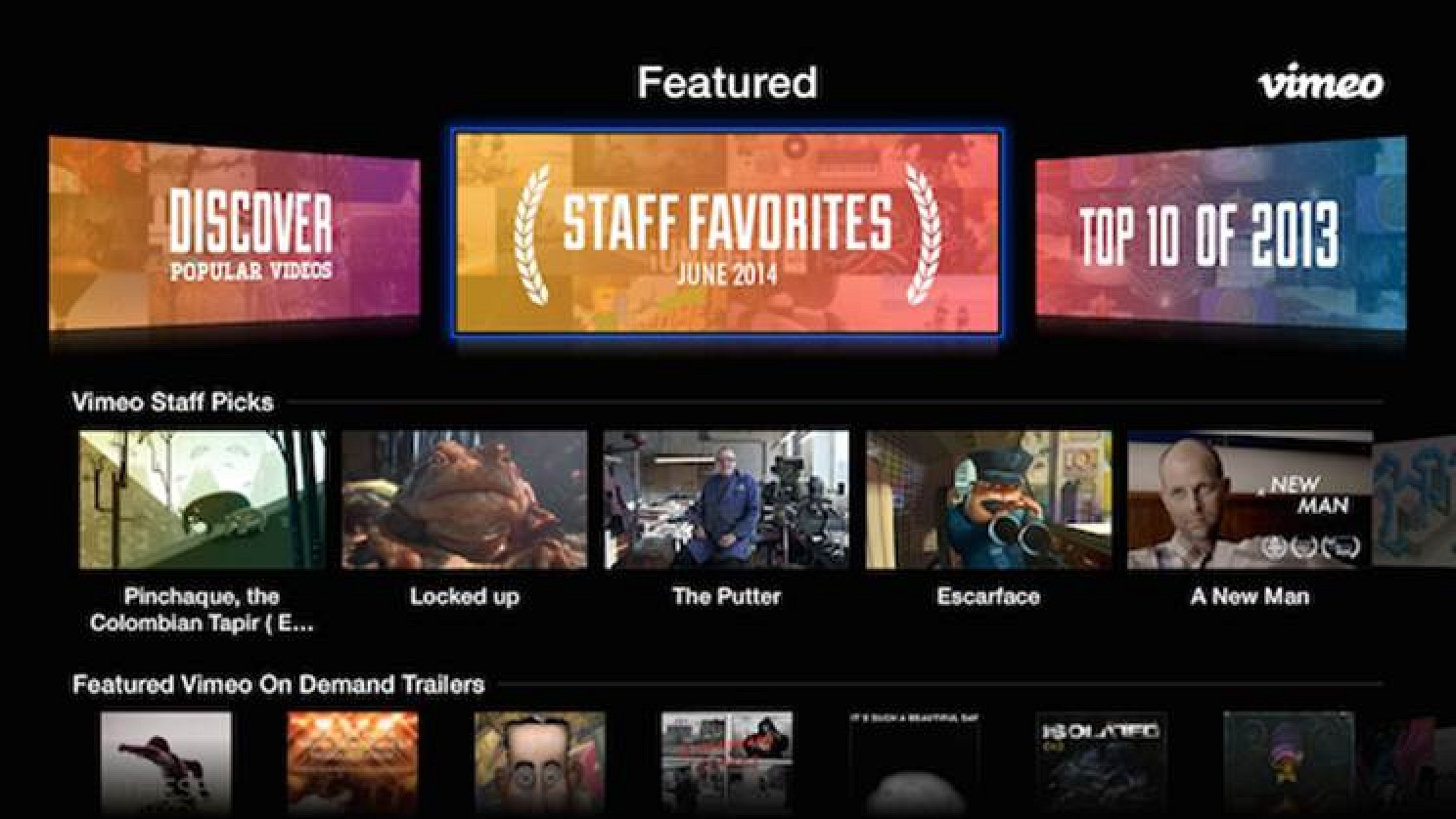 Vimeo Revamps Apple Tv Channel With Streamlined Interface