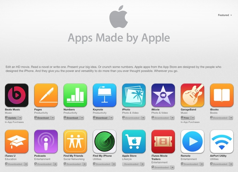 Apple Adds Beats Music to App Store List of 'Apps Made by Apple
