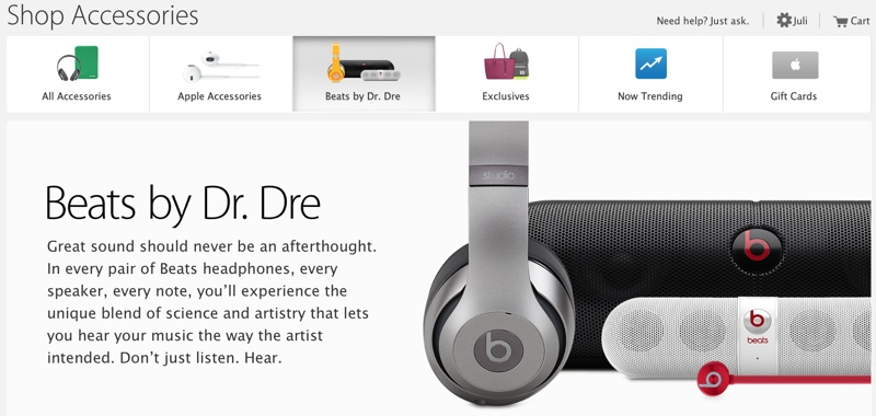 Apple Adds Dedicated Beats By Dr  Dre Accessory Section to
