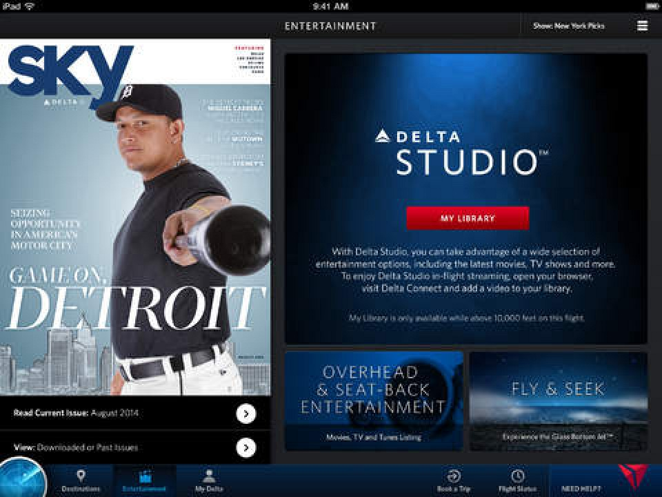 Delta Airlines Launches In Flight Entertainment For Ios