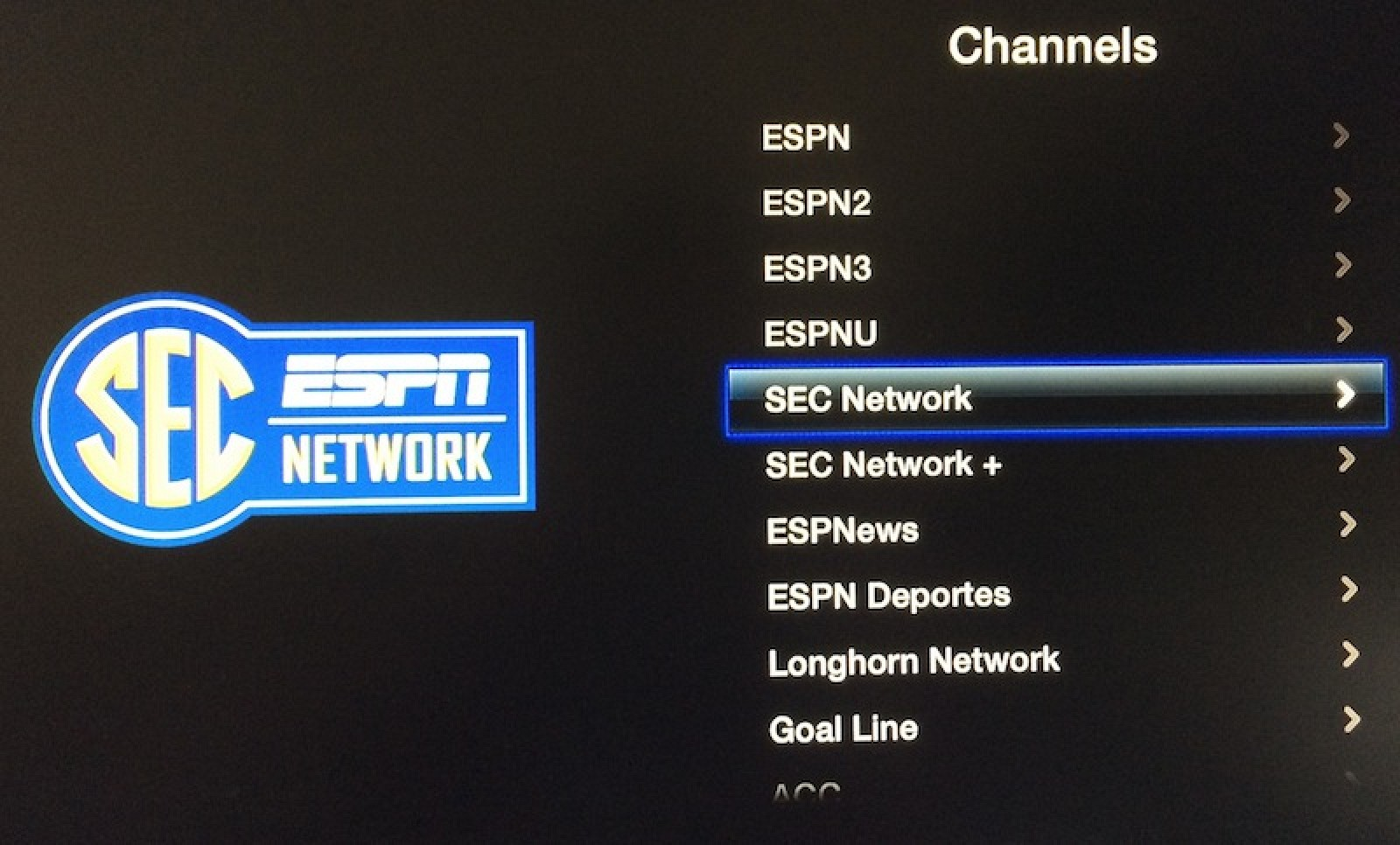 SEC and Longhorn Networks Added to 'WatchESPN' Apple TV ...