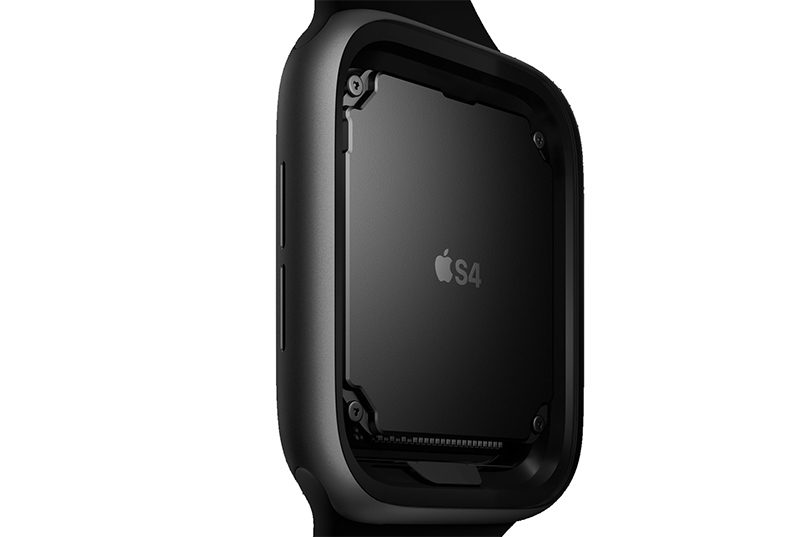 the previous-generation s3 chip in the apple watch series 3  the s4  chip allows for improved battery life and the new health-related features  that have