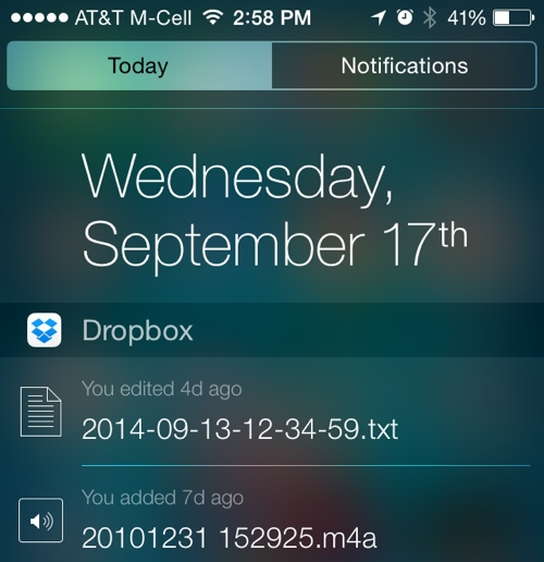 Comprehensive List of iOS 8 Apps with Notification Center Widgets