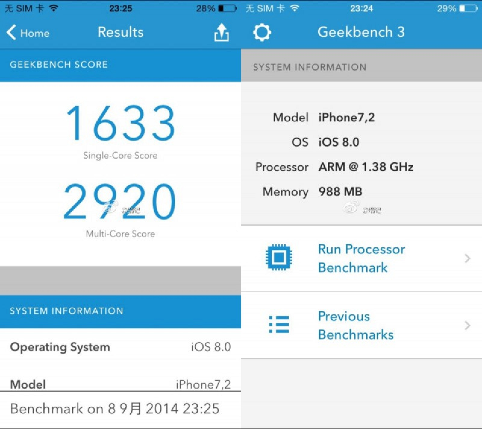 Post Macos Os X Geekbench Benchmarks: Alleged IPhone 6 Geekbench Results Reveal 1.4 GHz Dual