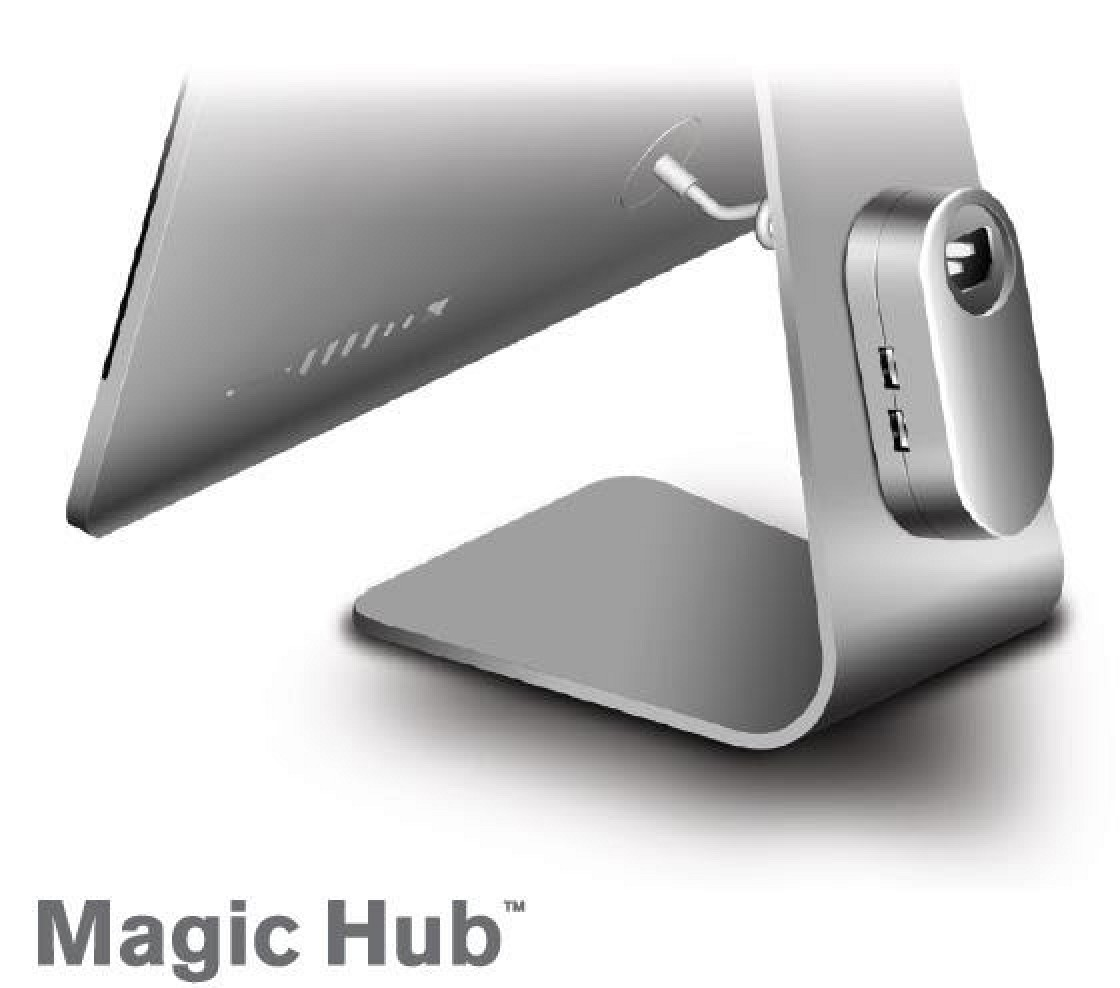 mobee debuts discreet 39 magic hub 39 for imac apple display. Black Bedroom Furniture Sets. Home Design Ideas