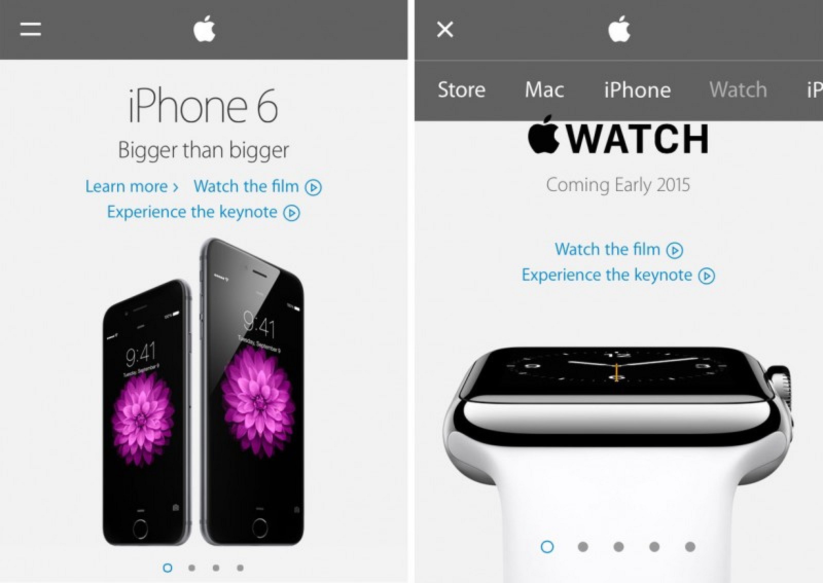 apple new iphone apple launches redesigned mobile website mac rumors 10147