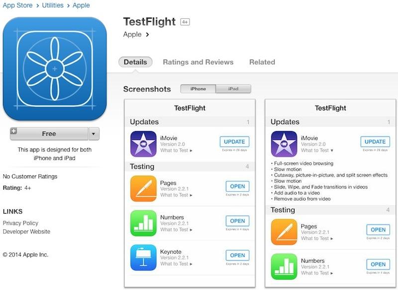 Apple's TestFlight Beta Testing Service Gearing Up Alongside