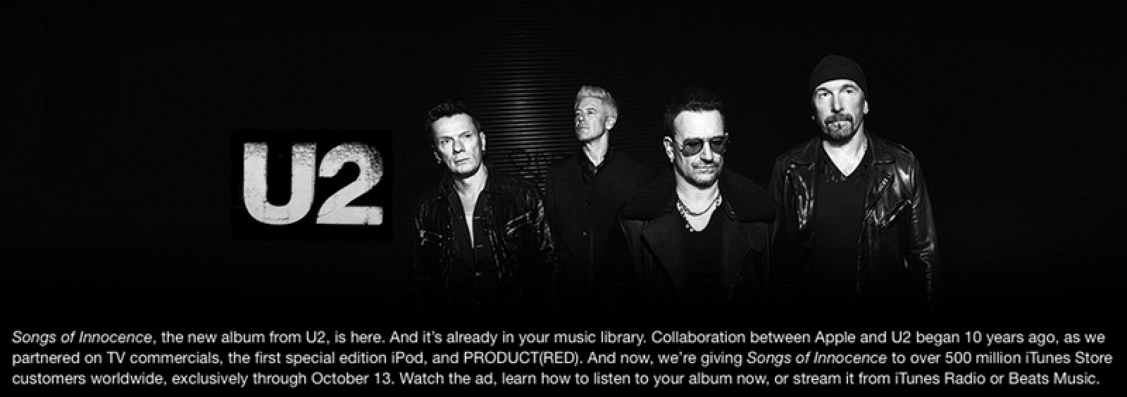 an analysis of the marketing strategy of songs of innocence an album by u2 International charts analysis: u2's songs of a companion release to 2014's songs of innocence, songs of experience is the gallagher's album also opens.