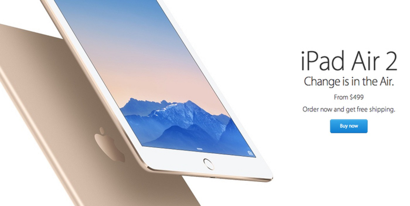 ipad air 2 and retina mini ipad 3 pre orders arrive as apple begins in store sales mac rumors. Black Bedroom Furniture Sets. Home Design Ideas