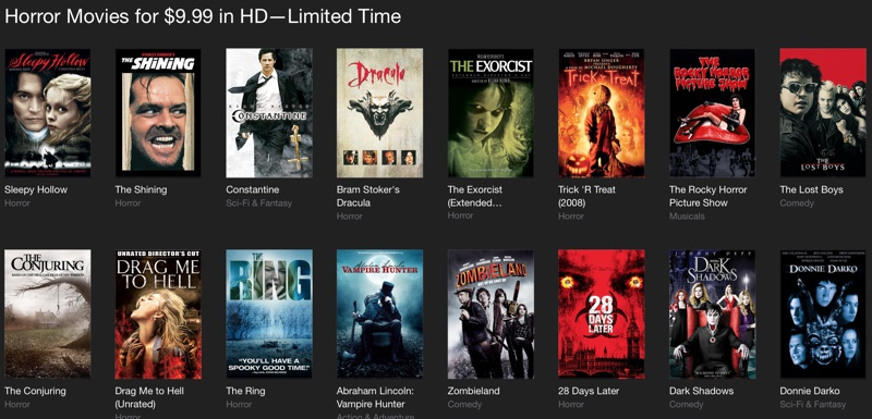 Halloween Deals: Discounts on Scary Movies, Apps, Apple ...