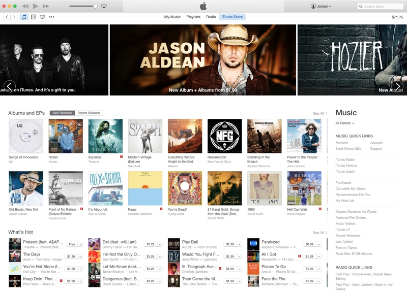 how to buy music in new itunes
